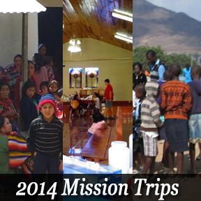 2014 Mission Trip Dates